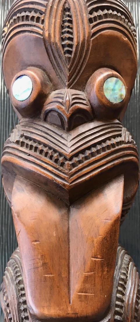 Maori Carved Wood Figural Tiki, New Zealand,1959 - 2