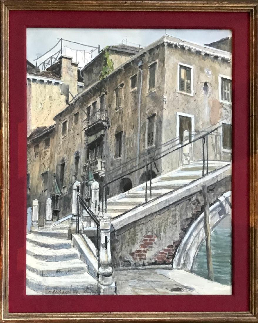 Venetian Painting, Local Street Scene, Farago, 1966