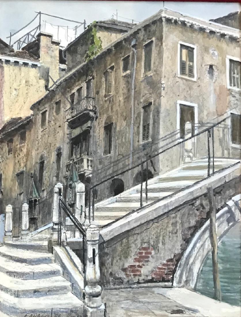 Venetian Painting, Local Street Scene, Farago, 1966 - 2