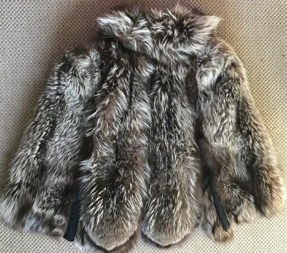 Silver Fox Swing Fur Coat - 4