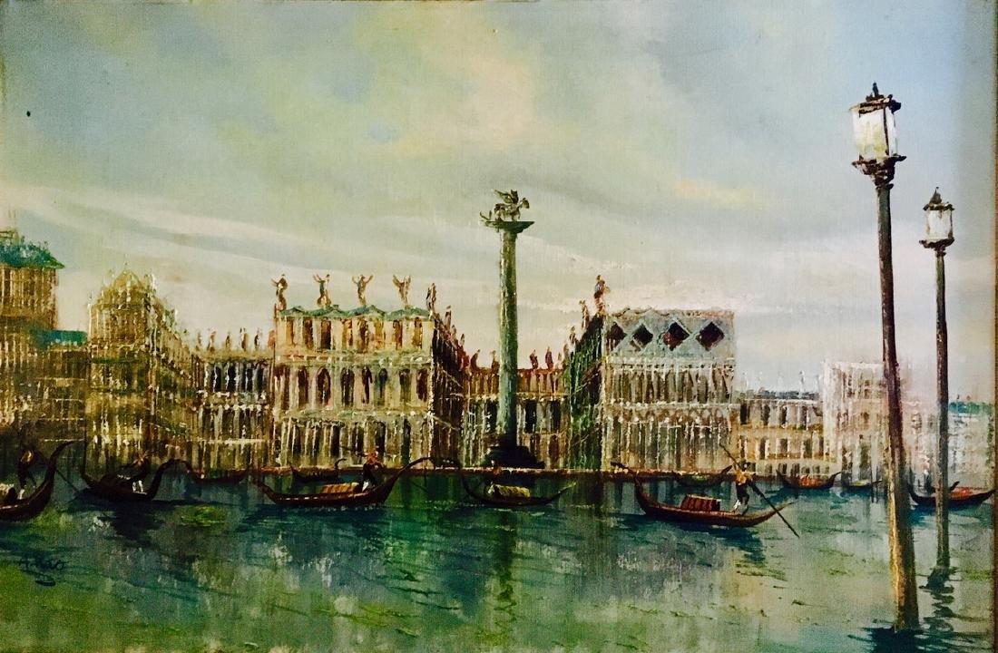 Piazza San Marco, Venetian Harbor Painting, A. Rao - 3