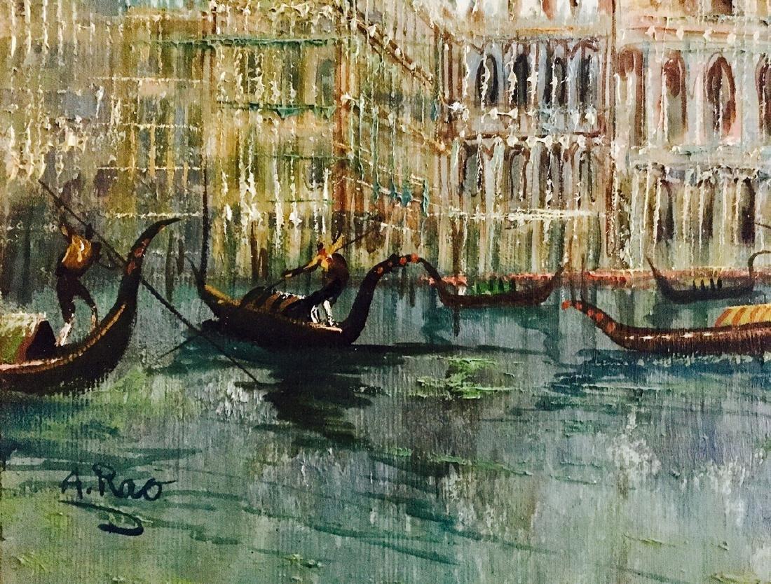 Piazza San Marco, Venetian Harbor Painting, A. Rao - 4