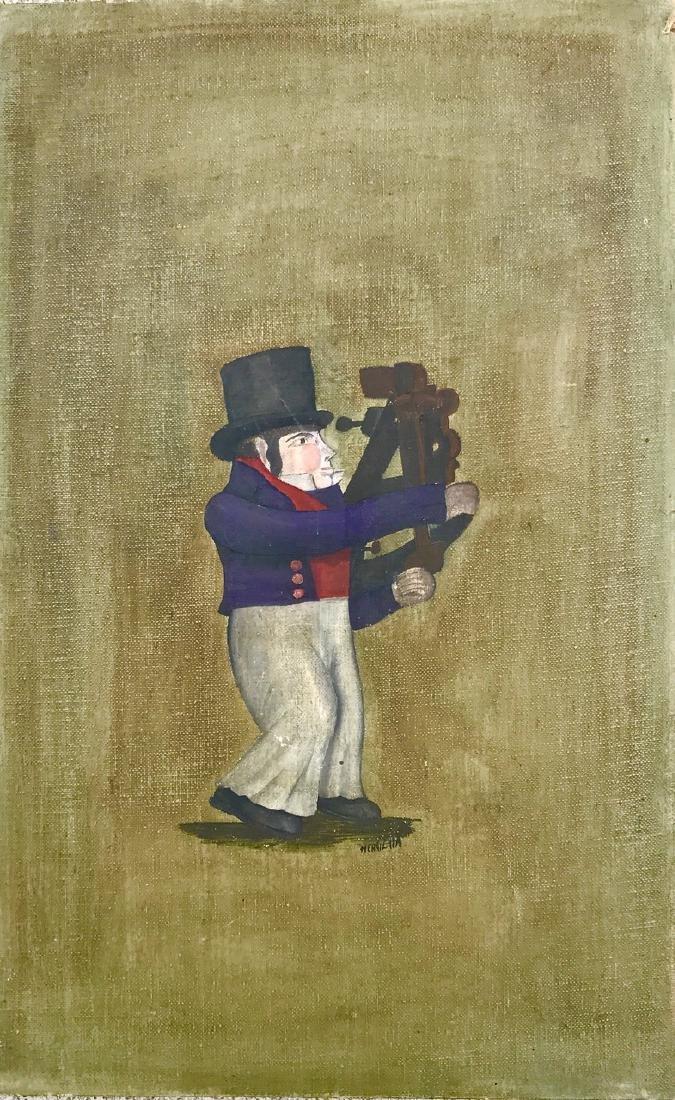Mariner/Explorer With Sextant, Oil Painting, Henrietta