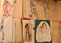 Collection of Original Fashion Design Drawings 150