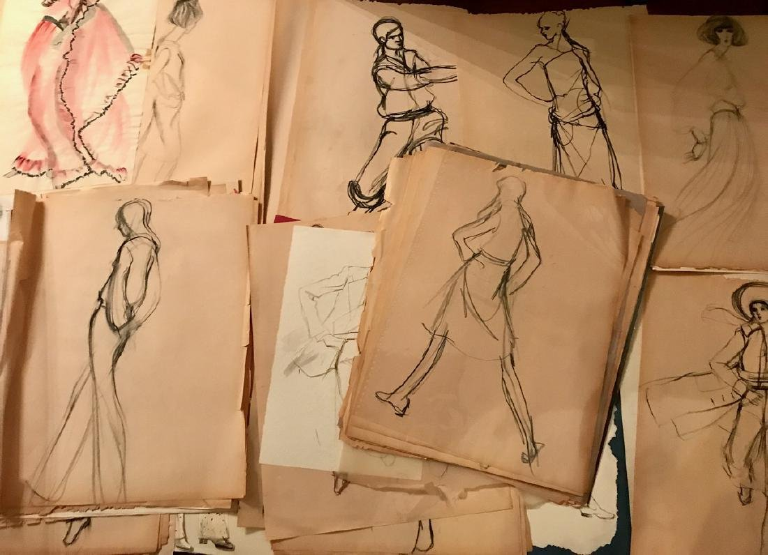 Collection of Original Fashion Design Drawings (150+) - 2