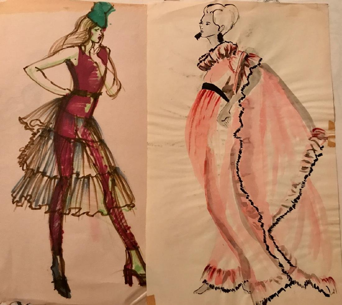 Collection of Original Fashion Design Drawings (150+) - 3