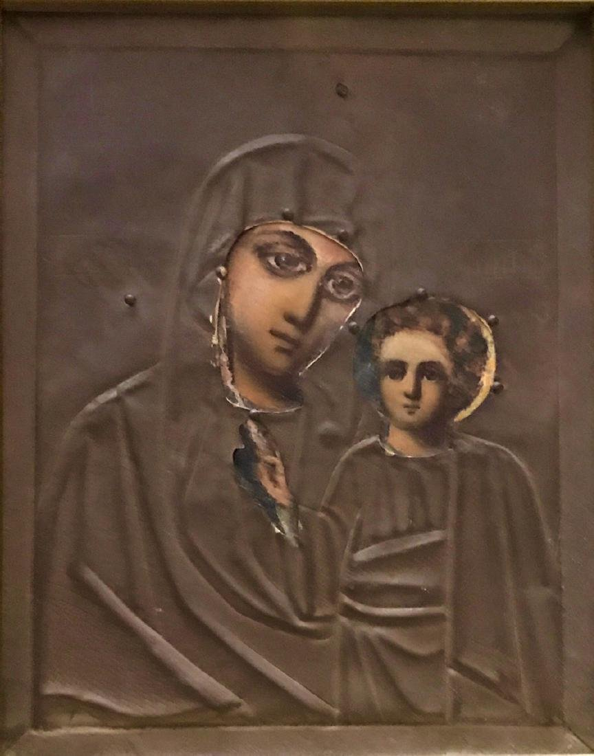 19th Century Russian Icon, Our Lady Of Kazan