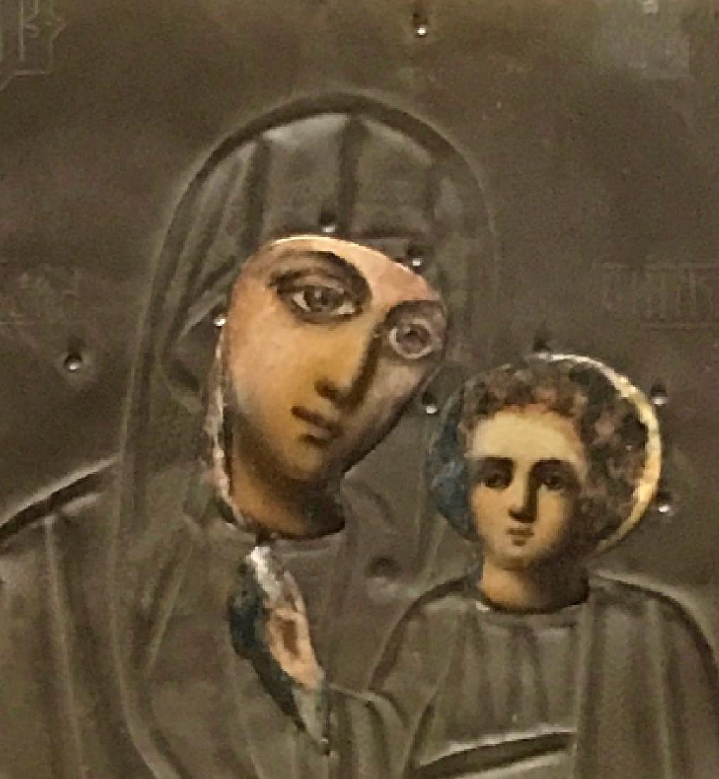 19th Century Russian Icon, Our Lady Of Kazan - 3