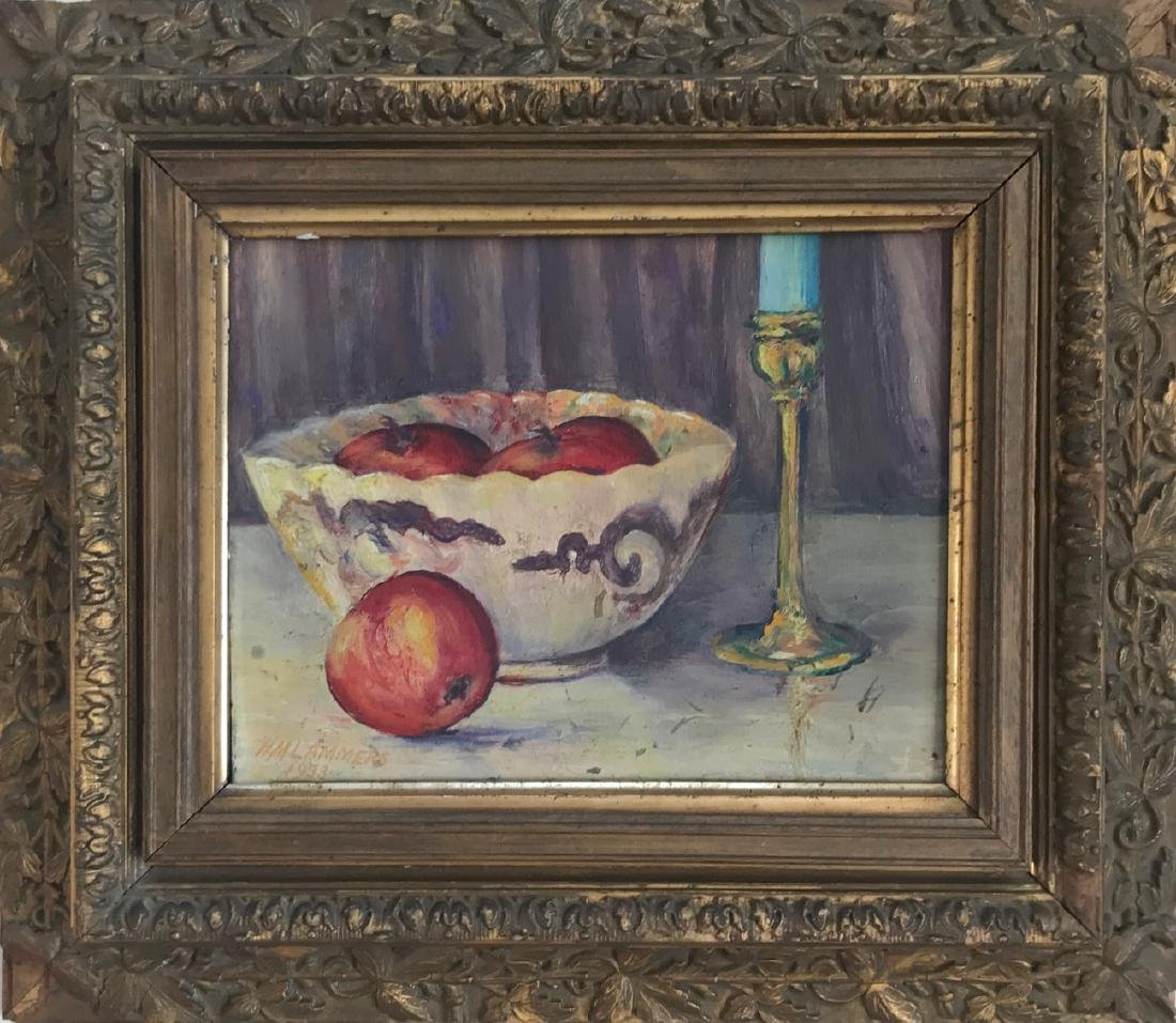 American Still Life Oil Painting, Lammers, 1933