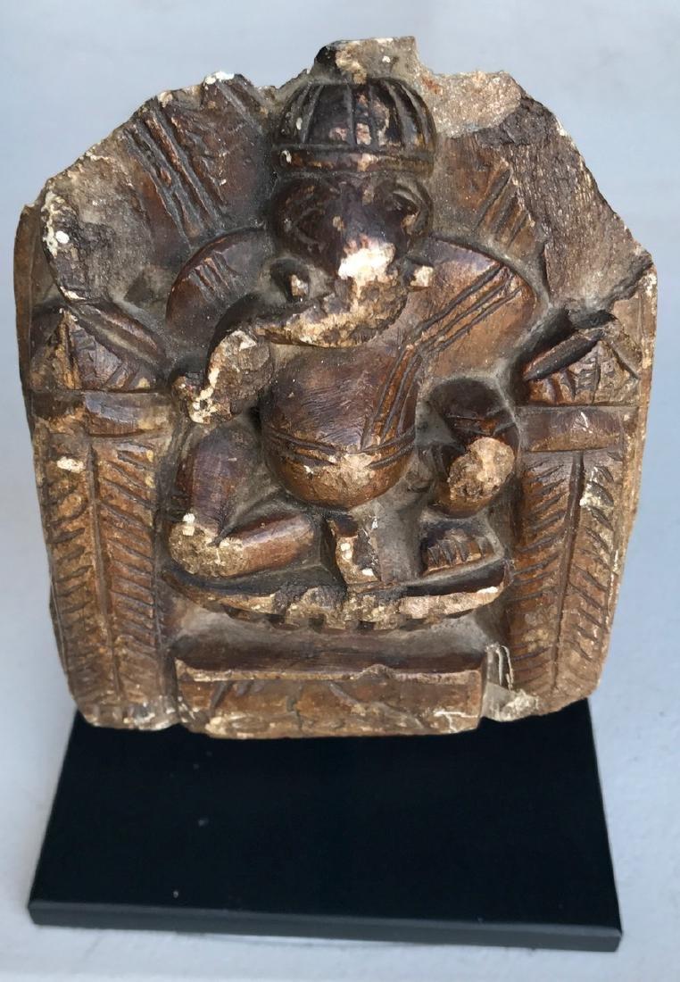 Antiquity: Carved Stone Elephant God Ganesh