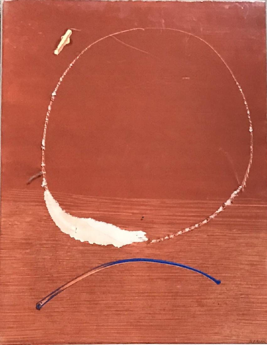 Latin American Abstract Collage Painting, Riazar 1970