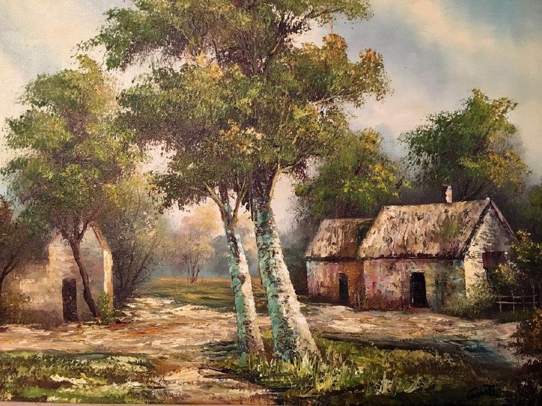 Homestead Landscape Oil Painting, Cabetti 1960's - 3