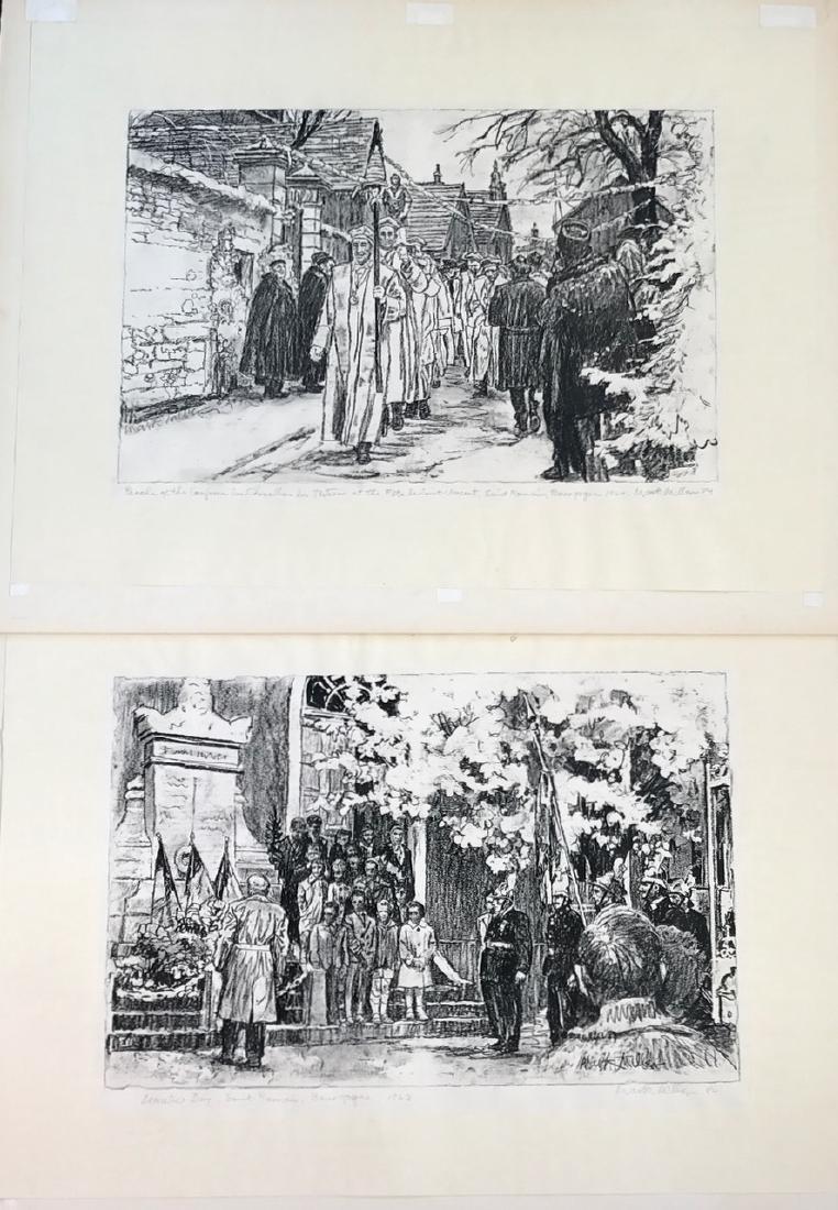Mark Dawson Miller (American, 1919-2008) Illustrations