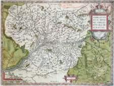 Abraham Ortelius Map of Anjou France 1606