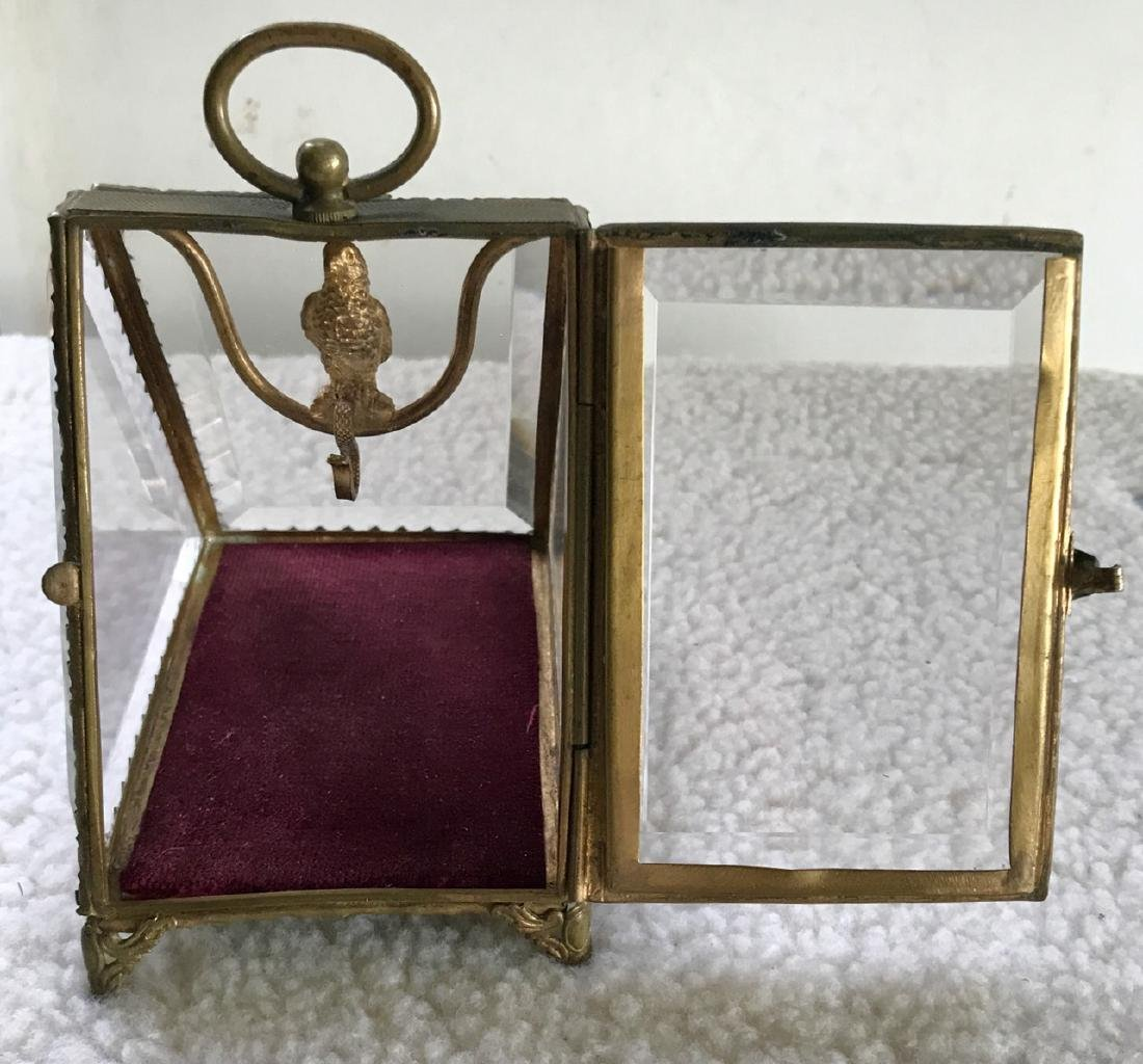 19th C. French Bronze Pocket Watch Display W/ Parrot