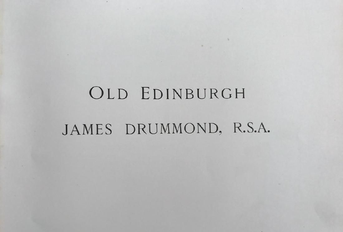 Antiquarian Book, Old Edinburgh James Drummond, 1879 - 10