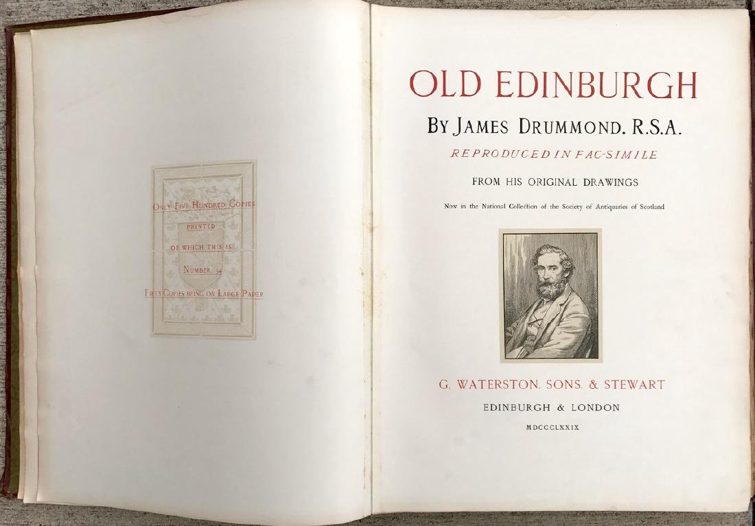Antiquarian Book, Old Edinburgh James Drummond, 1879