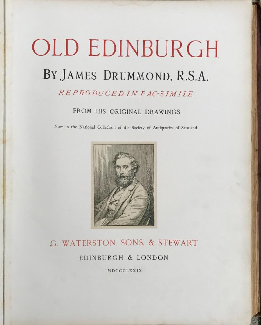 Antiquarian Book, Old Edinburgh James Drummond, 1879 - 4