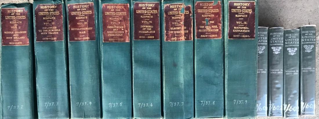 (12) Antiquarian Books, Carl Ridpath & Benjamin Andrews