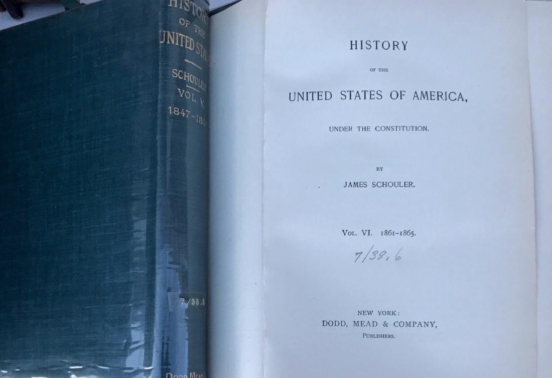 (10) Antiquarian Books, J.Spencer 1858, Schouler 1899 - 3