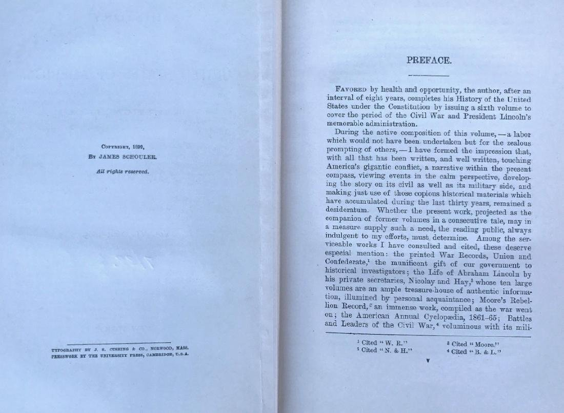 (10) Antiquarian Books, J.Spencer 1858, Schouler 1899 - 5