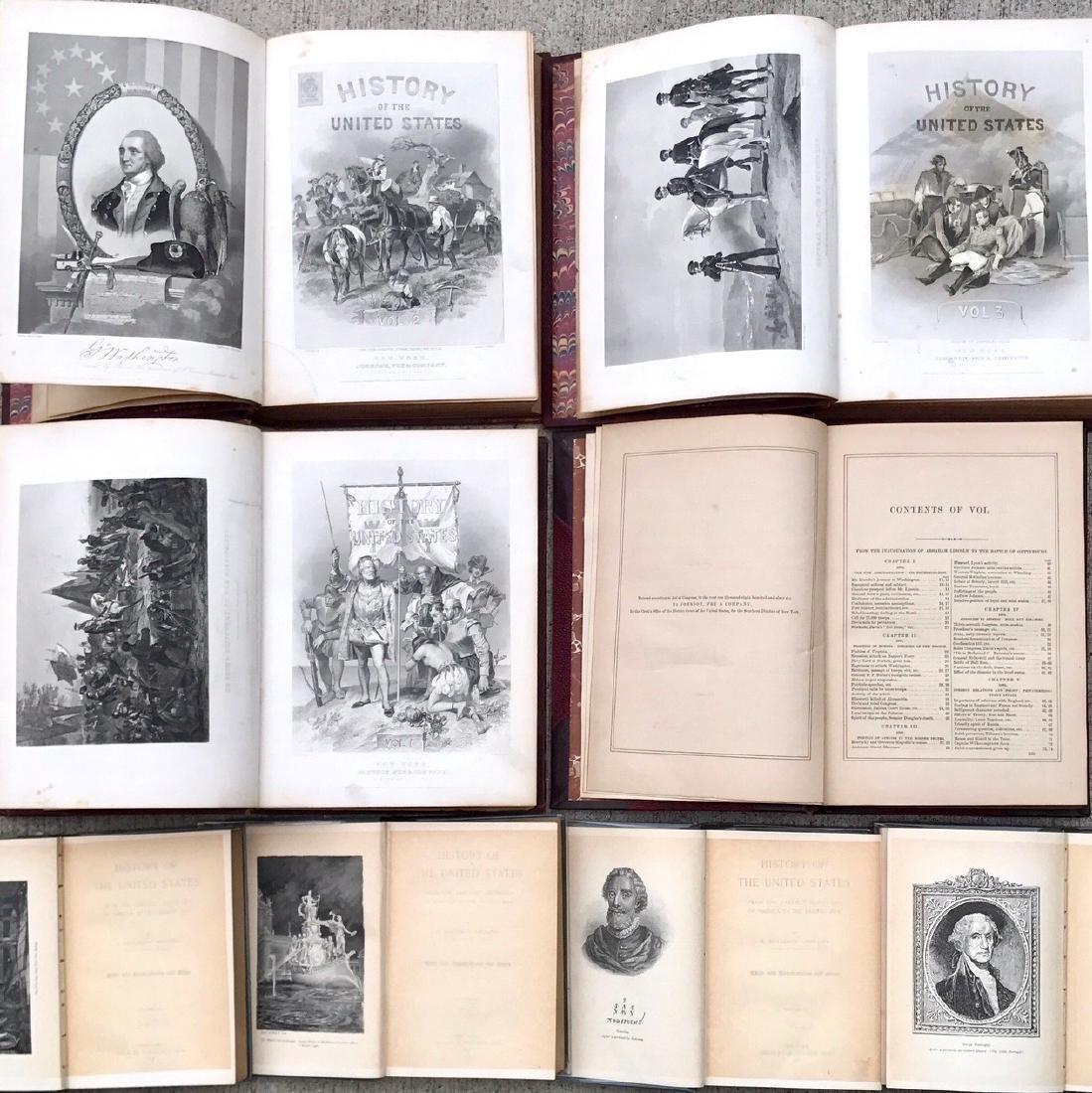 (10) Antiquarian Books, J.Spencer 1858, Schouler 1899 - 6