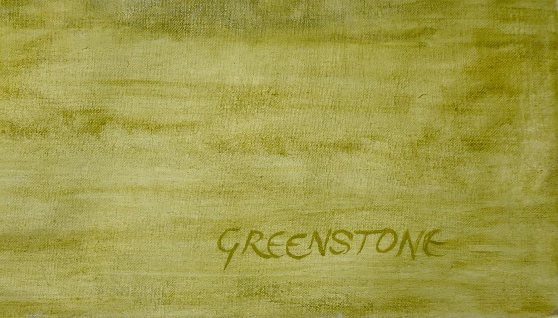 Abstract Expressionist Landscape Painting, Greenstone - 2