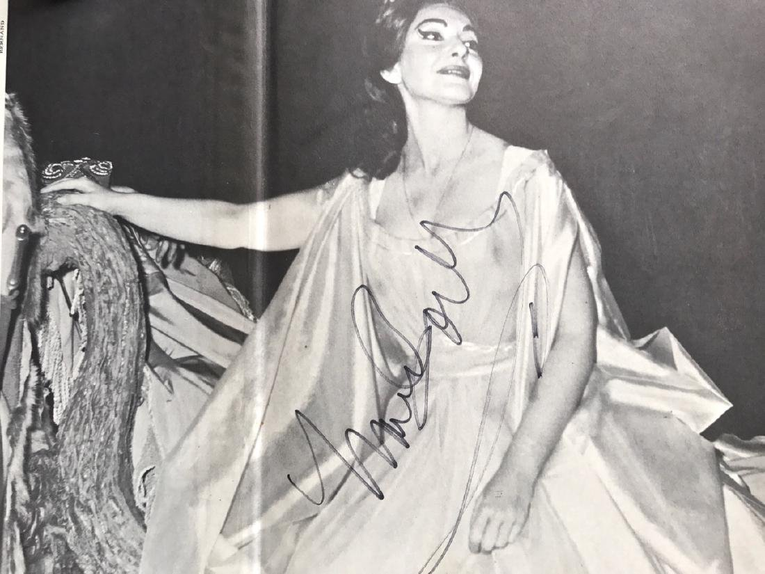 Maria Callas Autographed Hand Signed Book - 2