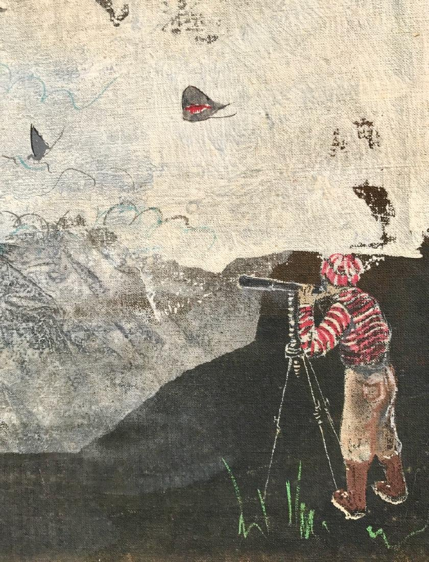 "Surreal Dreamscape Painting ""EMC 2"" Schabel - 3"