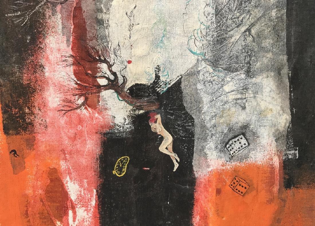 "Surreal Dreamscape Painting ""EMC 2"" Schabel - 4"