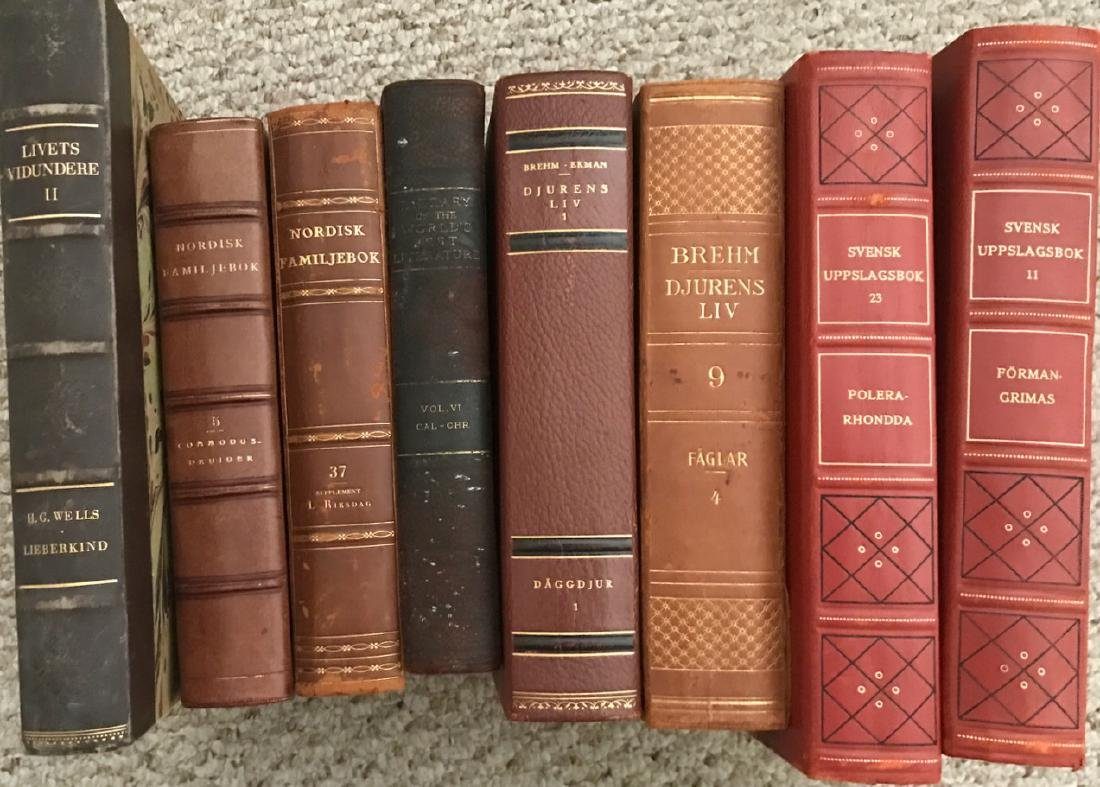 Swedish Books Including Science of Life, Wells & Huxley