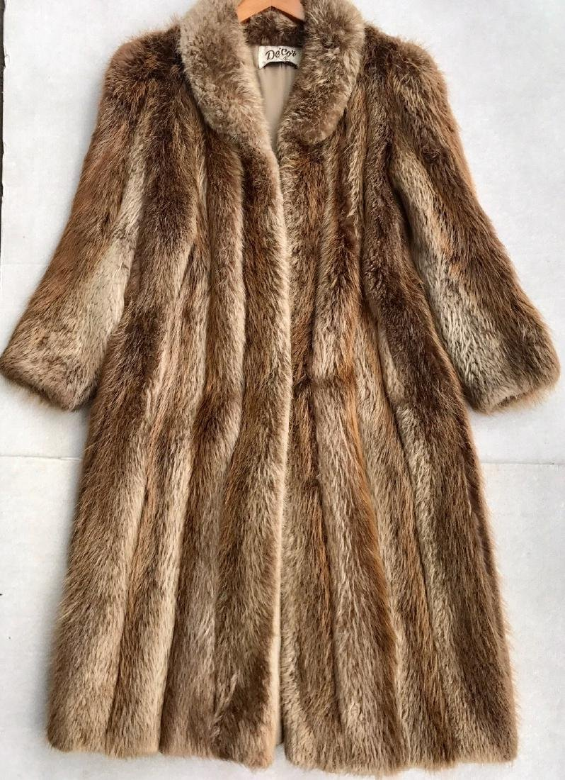 Norwegian Fox Full Length Fur Coat