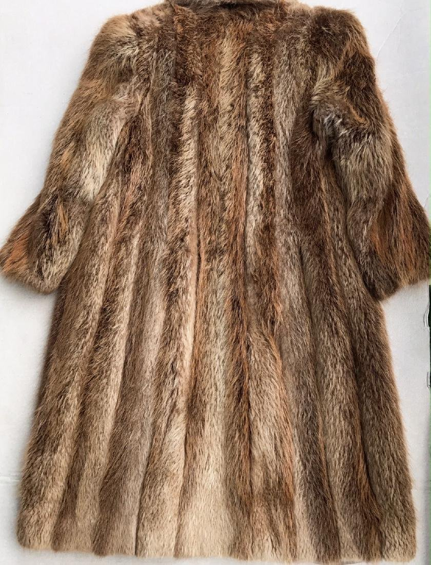 Norwegian Fox Full Length Fur Coat - 2