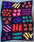 Hand Made Modern Abstract Rug Signed