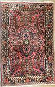 "Antique Persian Sarouk Rug, 4' x 2'.6"""