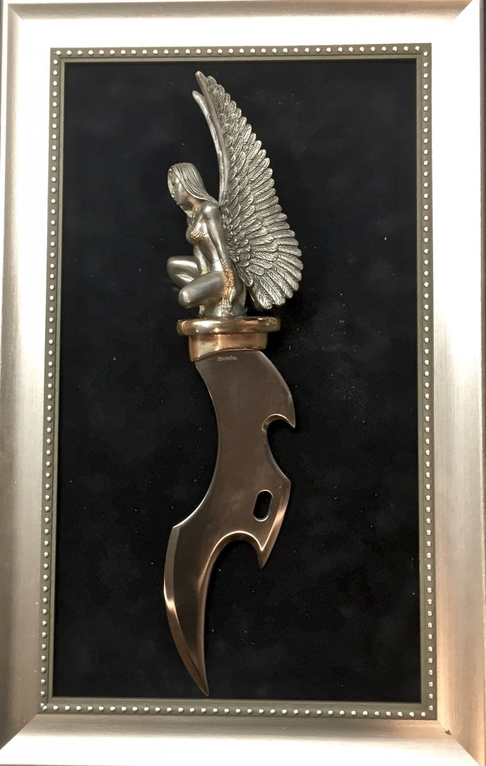 "Boris Vallejo Sci-fi Fantasy Dagger ""Winged Temptress"""