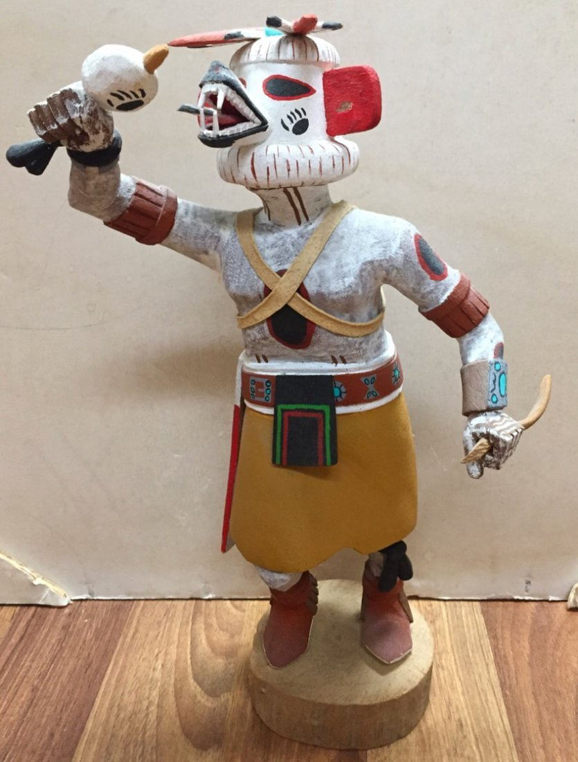 "Native American Hopi Kachina Carving ""White Bear"" TEWA"