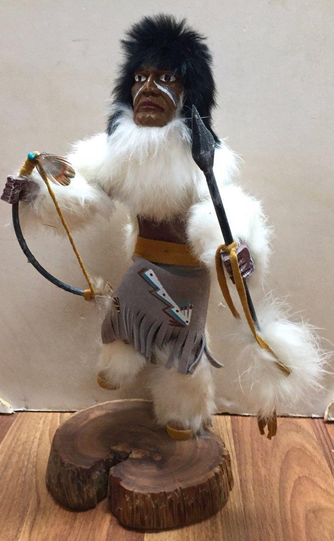 Hopi American Indian Kachina Doll, Signed MWB