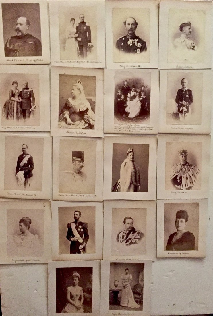 Portraits Of European Royal Family Albumen Prints