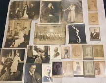 Theater  Opera Photographs Albumens Autographs