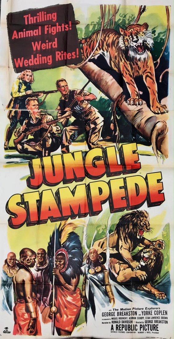 Mid-Century Cinema Poster Jungle Stampede