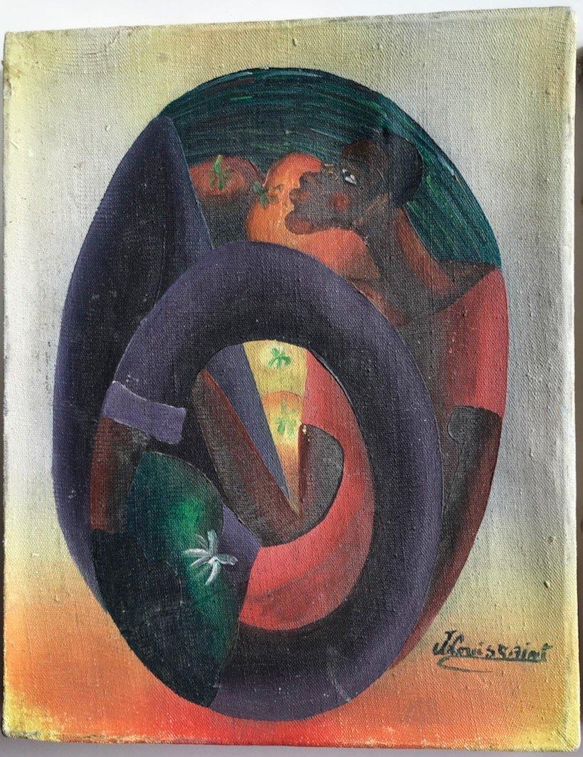 (3) Haitian Landscape & Market Oil Paintings, Signed - 4