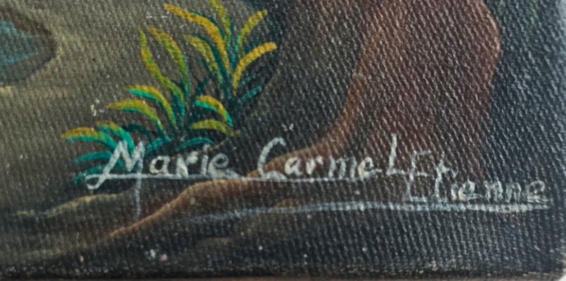 3 Haitian Village & Farming Landscape Paintings, Signed - 3
