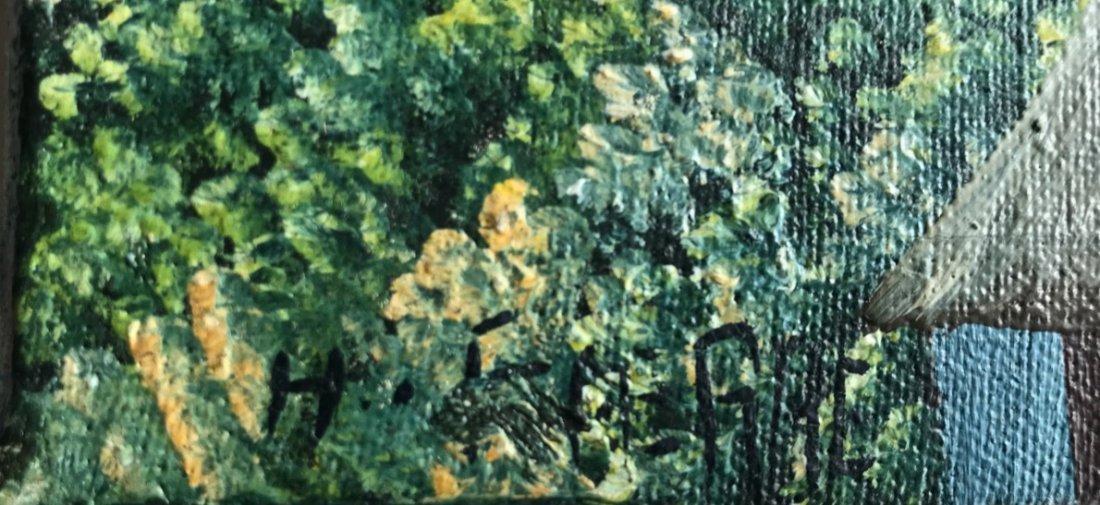 3 Haitian Village & Farming Landscape Paintings, Signed - 5