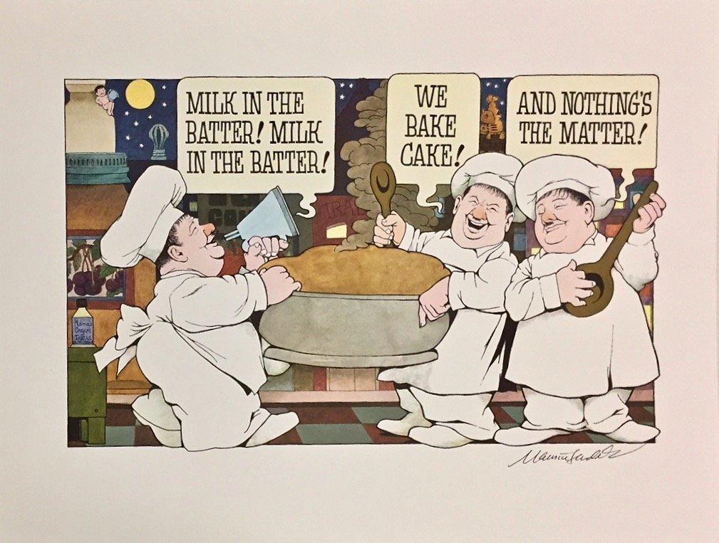 """Maurice Sendak Signed Poster """"Milk In The Batter"""" 1971"""