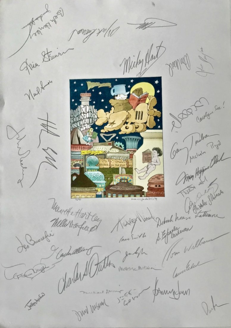 Maurice Sendak FREEDOM TO READ Autographed 1991 Signed