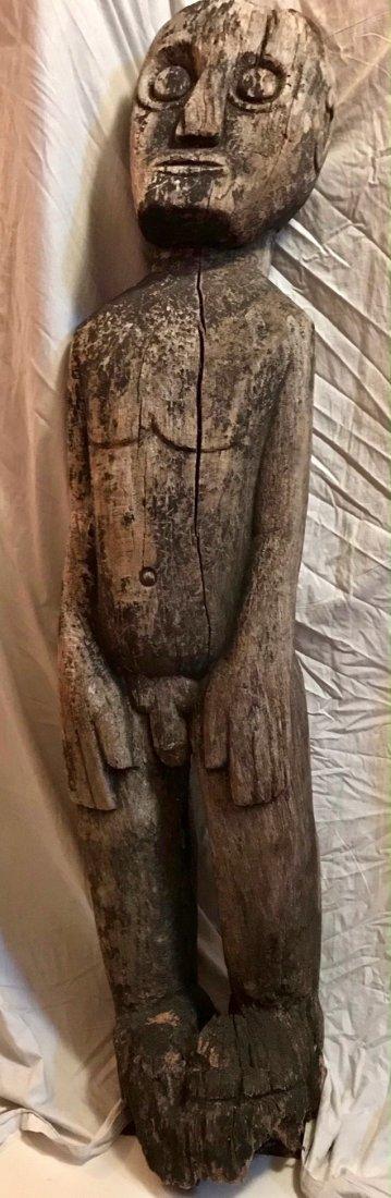 """Tribal Carved Ancestor Guardian Totem Figure 4'8"""""""