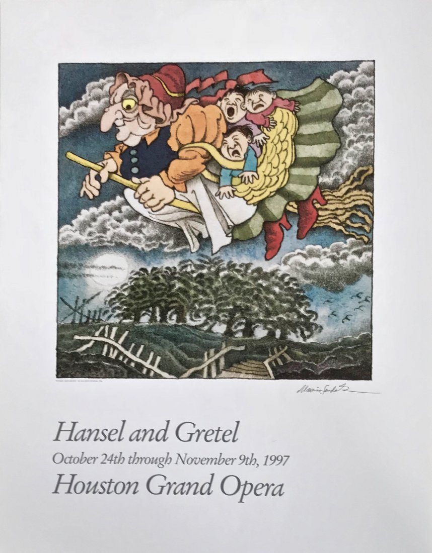 Hansel & Gretel Opera Poster Signed By Maurice Sendak