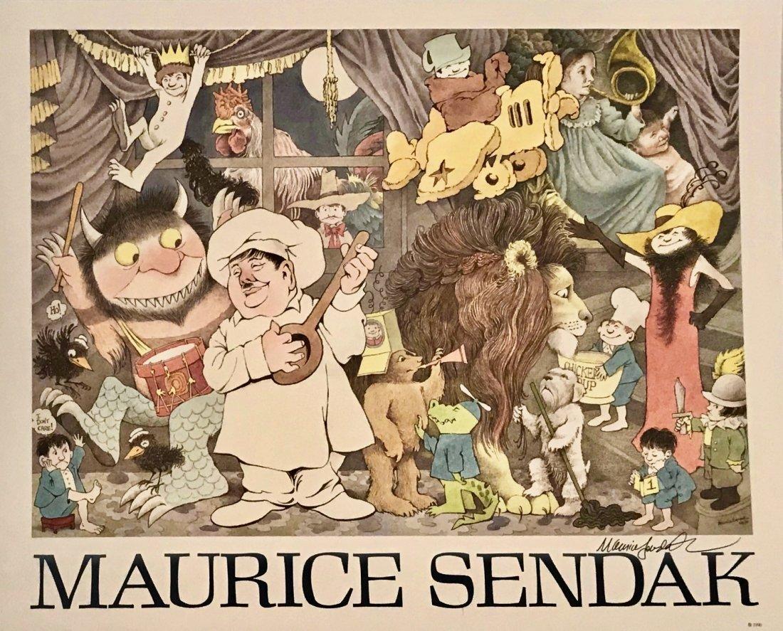 Maurice Sendak Poster Illustrated & Hand-Signed 1990
