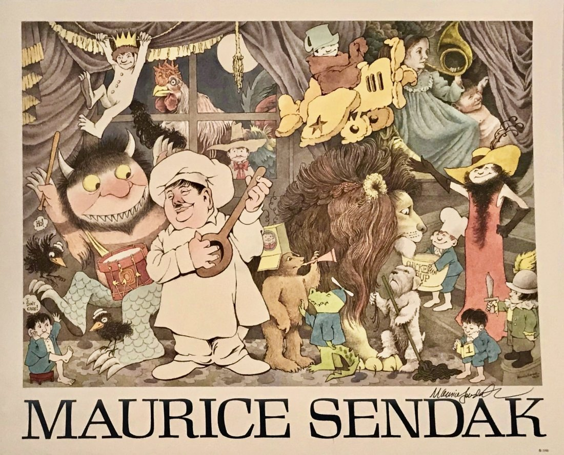 Maurice Sendak Poster Illustrated & Hand-Signed 1990